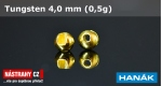 Wolfram head 4,0 mm - gold - 5 pcs