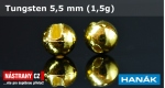 Wolfram head 5,5 mm - gold 5 pcs