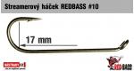 Streamer hook REDBASS #10, 10 pcs