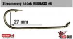 Streamer hook REDBASS #6, 10 pcs