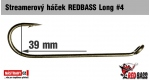 Streamer hook REDBASS Long #4, 10 pcs