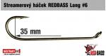 Streamer hook REDBASS Long #6, 10 pcs