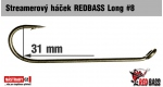 Streamer hook REDBASS Long #8, 10 pcs