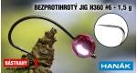 Wolfram BL jig H360 #6, 5 pcs, MPINK, 1,5 g