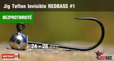 Barbless Jig Teflon Invisible REDBASS # 1, 5 pcs