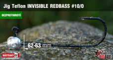 Barbless Jig Teflon Invisible REDBASS # 10/0, 5 pcs