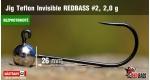 BL Jig Teflon Invisible #2 - 2,0 g, 5 pcs