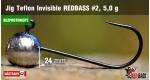 BL Jig Teflon Invisible #2 - 5,0 g, 5 pcs