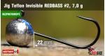 BL Jig Teflon Invisible #2 - 7,0 g, 5 pcs