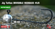 Barbless Jig Teflon Invisible REDBASS # 5/0, 5 pcs