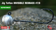 Barbless Jig Teflon Invisible REDBASS # 7/0, 5 pcs