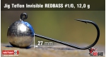 Jig Teflon Invisible RedBass #1/0 - 12,0 g, 5 pcs +0.24 €