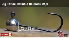 Jig Teflon Invisible REDBASS # 1/0, 5 pcs