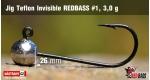 Jig Teflon Invisible RedBass #1 - 3,0 g, 5 pcs