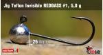 Jig Teflon Invisible RedBass #1 - 5,0 g, 5 pcs