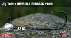 Jig Teflon Invisible REDBASS # 10/0, 5 pcs