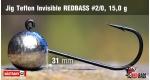 Jig Teflon Invisible RedBass #2/0 - 15,0 g, 5 pcs +0.24 €