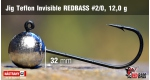 Jig Teflon Invisible RedBass #2/0 - 12,0 g, 5 pcs +0.24 €