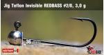 Jig Teflon Invisible RedBass #2/0 - 3,0 g, 5 pcs