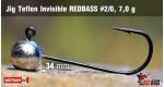 Jig Teflon Invisible RedBass #2/0 - 7,0 g, 5 pcs