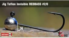 Stand Up Jig Teflon Invisible REDBASS # 2/0, 5 pcs