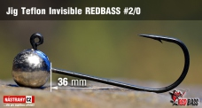 Jig Teflon Invisible REDBASS # 2/0, 5 pcs