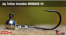Stand Up Jig Teflon Invisible REDBASS # 2, 5 pcs