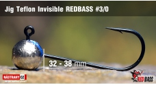 Jig Teflon Invisible REDBASS # 3/0, 5 pcs