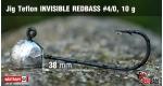 Jig Teflon Invisible REDBASS #4/0 - 5 pcs, 10 g