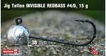 Jig Teflon Invisible REDBASS #4/0 - 5 pcs, 15 g