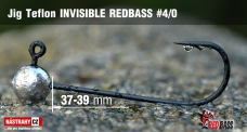 Jig Teflon Invisible REDBASS # 4/0, 5 pcs