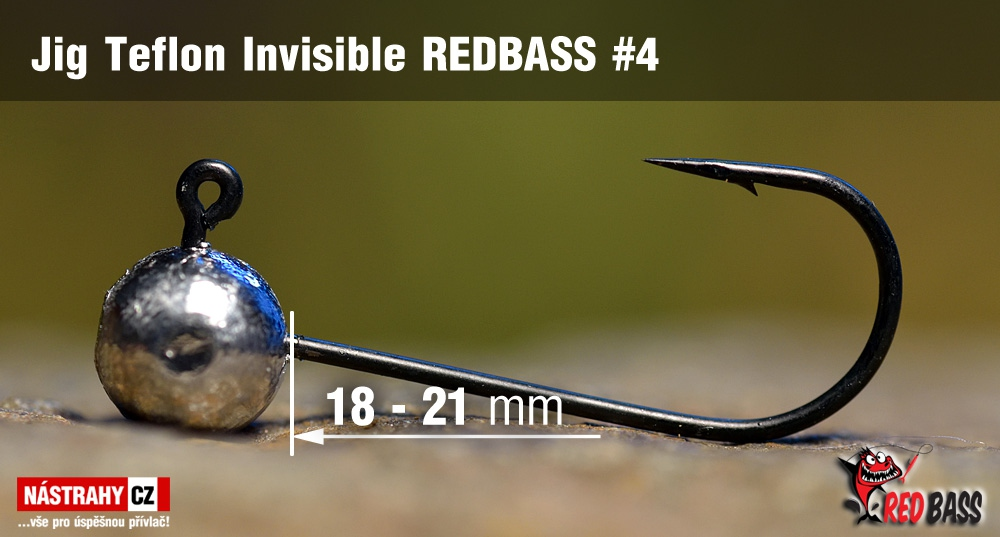Stand Up Jig Teflon Invisible REDBASS # 4, 5 pcs