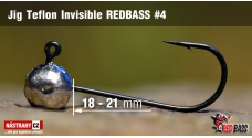 Jig Teflon Invisible REDBASS # 4, 5 pcs