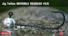 Jig Teflon Invisible REDBASS # 5/0, 5 pcs