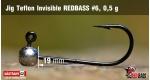Jig Teflon Invisible RedBass #6 - 0,5 g, 5 pcs