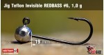Jig Teflon Invisible RedBass #6- 1,0 g, 5 pcs