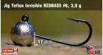 Jig Teflon Invisible RedBass #6 - 3,0 g, 5 pcs