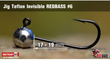 Stand Up Jig Teflon Invisible REDBASS # 6, 5 pcs