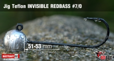 Jig Teflon Invisible REDBASS # 7/0, 5 pcs
