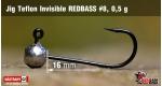 Jig Teflon Invisible RedBass #8 - 0,5 g, 5 pcs