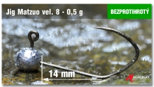 Barbless Jig Matzuo #8 - 14 mm - 5pcs