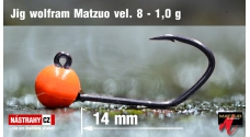 Tungsten jig head Matzuo Sickle #8 - 14 mm - 5 pcs