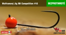 Barbless tungsten Jig RB Competition #10 - 14 mm - 5 pcs