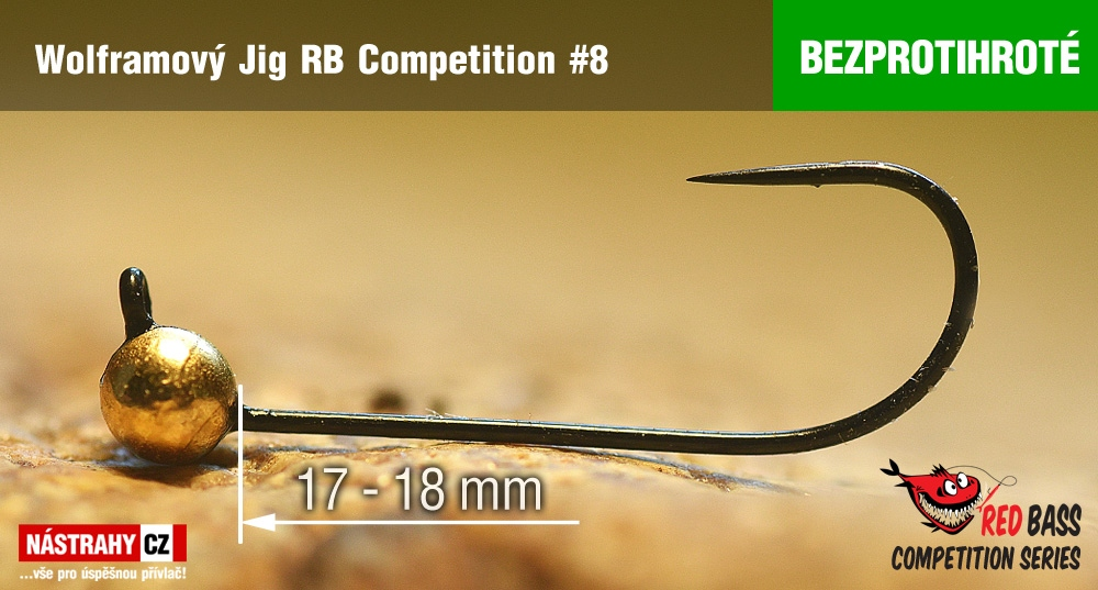 Barbless tungsten Jig RB Competition #8 - 18 mm - 5 pcs