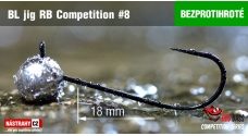 Barbless Jig RB Competition #8 - 18 mm - 5 pcs