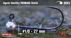 Jig REDBASS Sickle #1/0 - 27 mm, 5 pcs