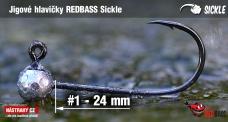 Jig REDBASS Sickle #1 - 24 mm, 5 pcs