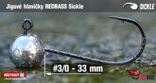 Jig REDBASS Sickle #3/0 - 33 mm, 5 pcs