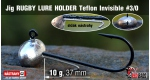 Jig Teflon RUGBY - Lure holder #3/0, 10 g, 5 pcs