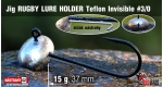 Jig Teflon RUGBY - Lure holder #3/0, 15 g, 5 pcs